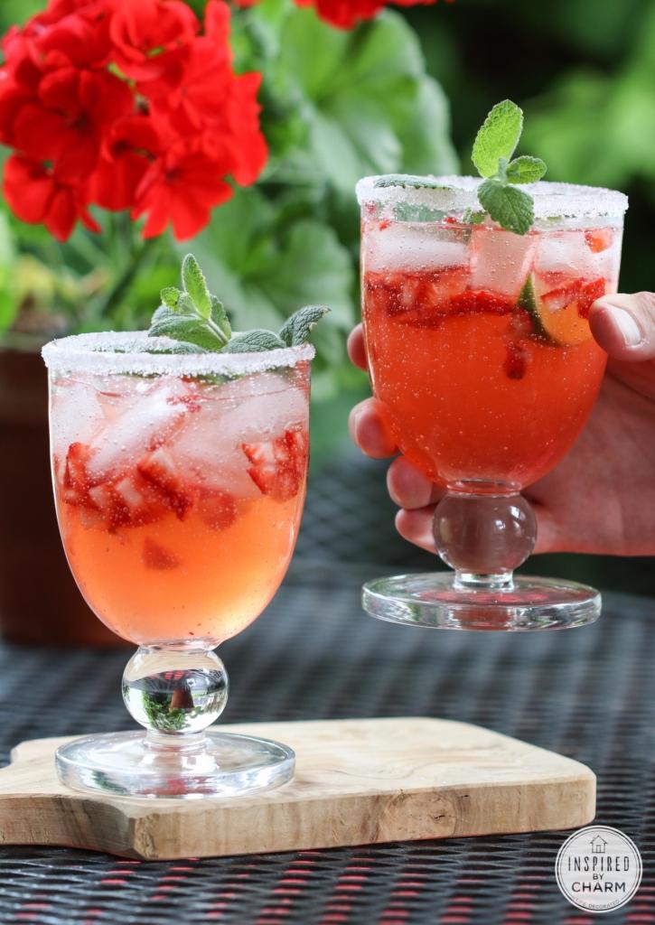 Strawberry Rhubarb Margarita | Inspired by Charm