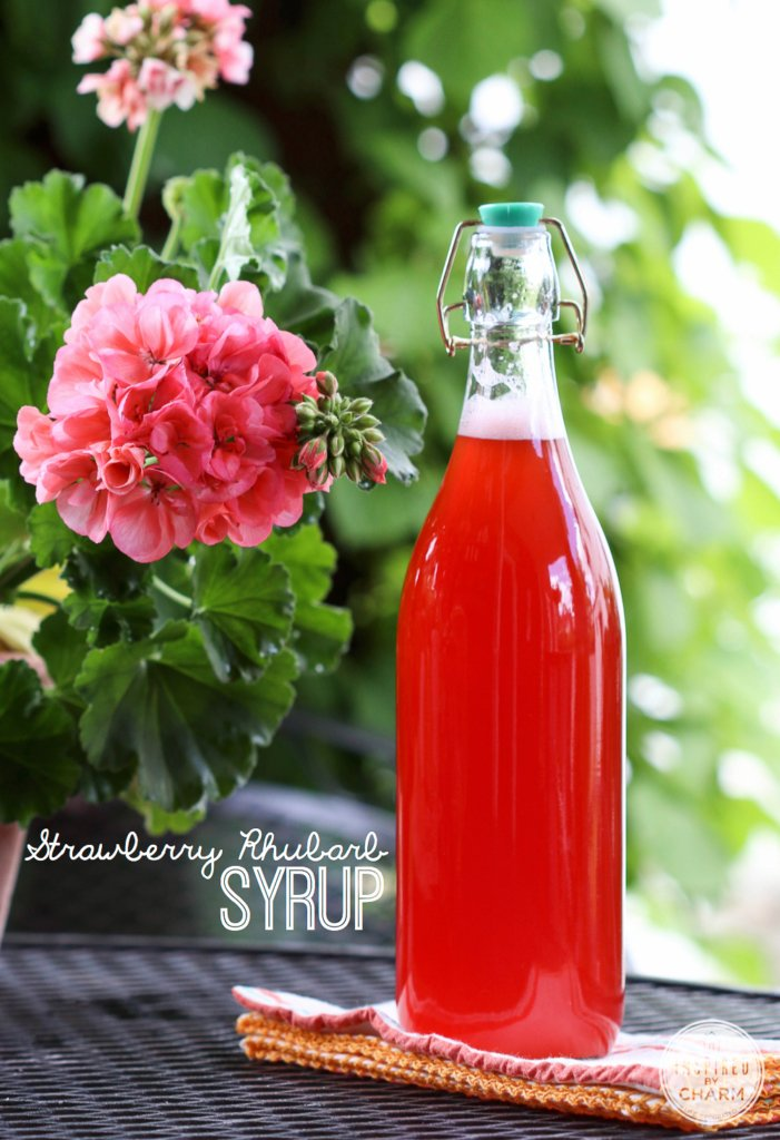 Strawberry Rhubarb Syrup | Inspired by Charm