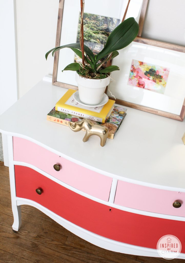 Painted Antique Dresser | Inspired by Charm #PrettyinPink