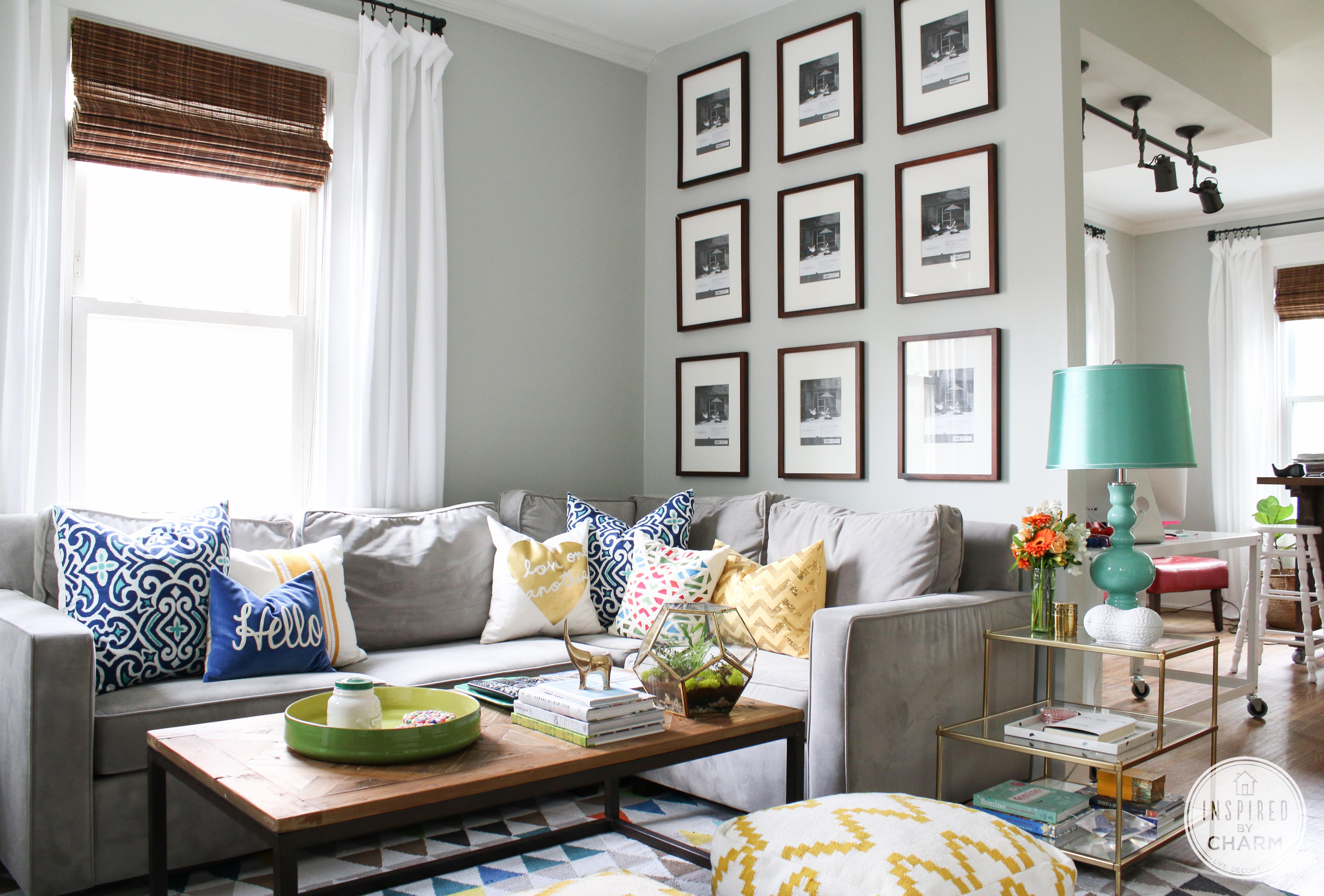 a new gallery wall inspired by charm - Galley Living Room Decorating