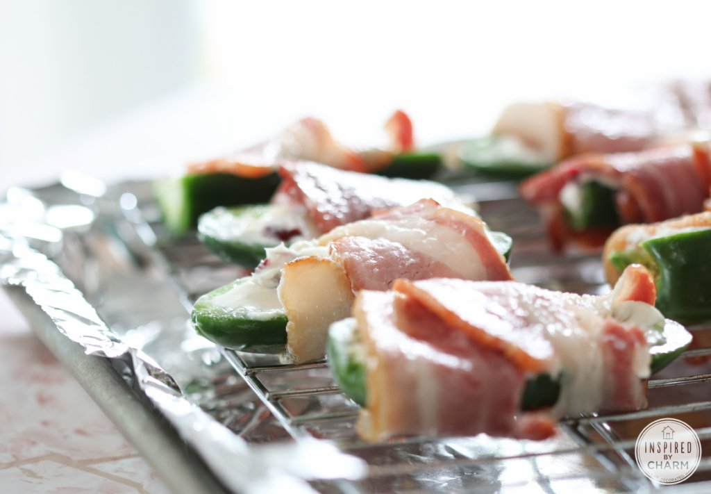 Bacon-Wrapped, Cream Cheese and Craisin-Stuffed Jalapeño Peppers | Inspired by Charm