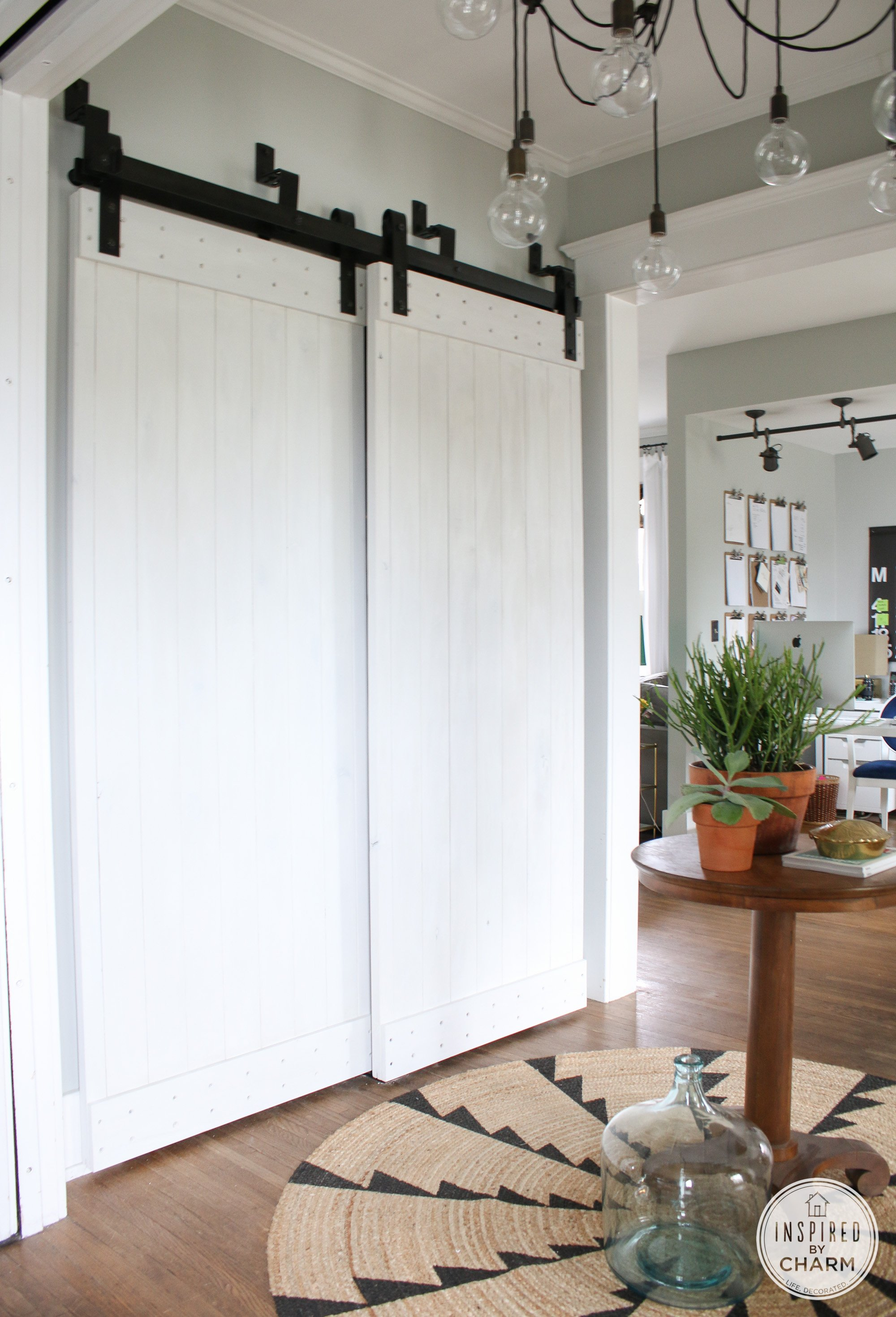 Bypass Barn Door Painted Barn Doors Inspired By Charm