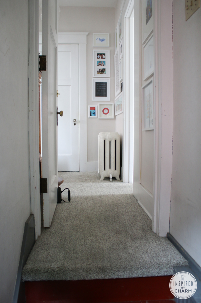 Basement Stairwell Makeover: The Before | Inspired by Charm