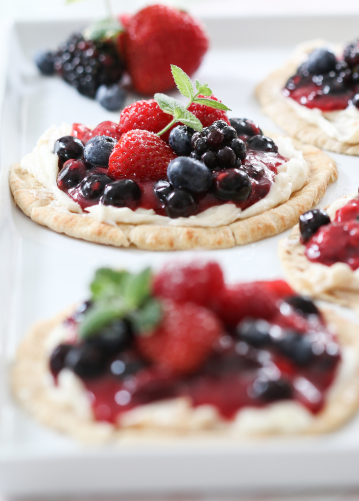 Berry Breakfast Pizzas | Inspired by Charm