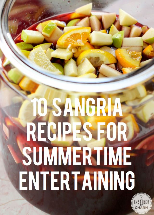 10 Sangria Recipes | Inspired by Charm