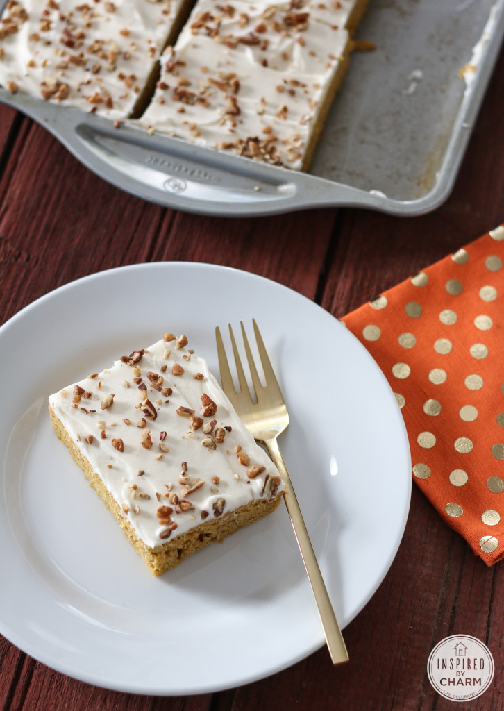 Pumpkin Bars | Inspired by Charm
