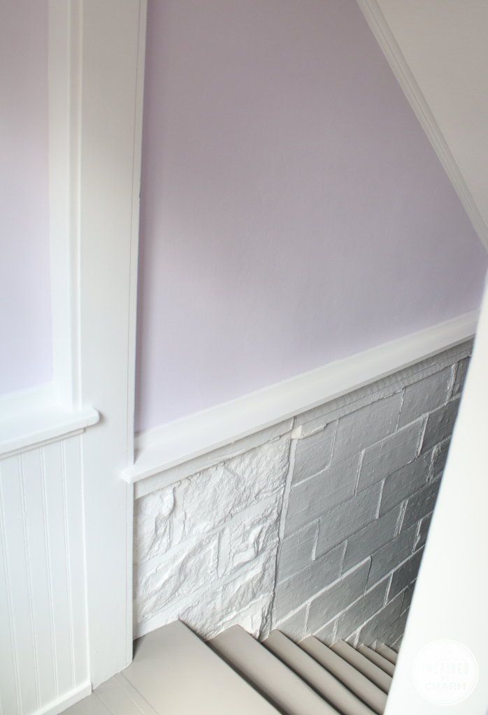 Painted Basement Stairwell | Inspired by Charm