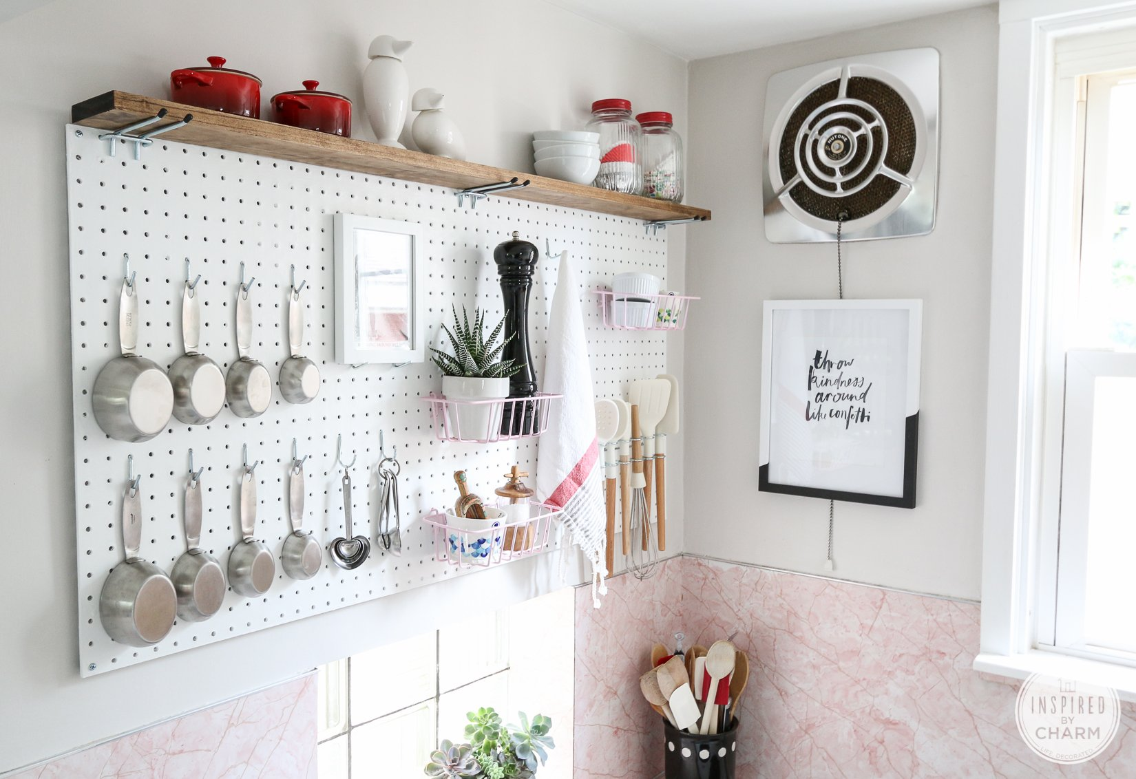 Pegboard Kitchen Pegboard Kitchen Storage Inspired By Charm