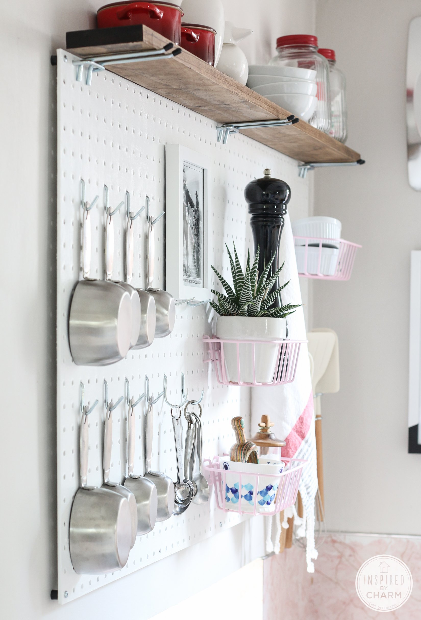 Storage For The Kitchen Pegboard Kitchen Storage Inspired By Charm