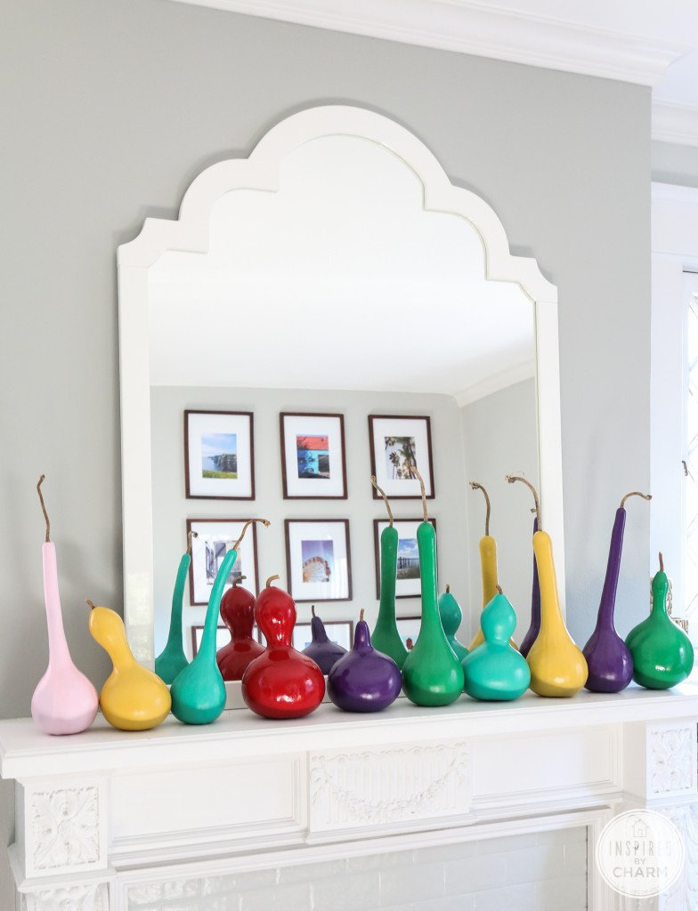 Colorful Painted Gourds | Inspired by Charm