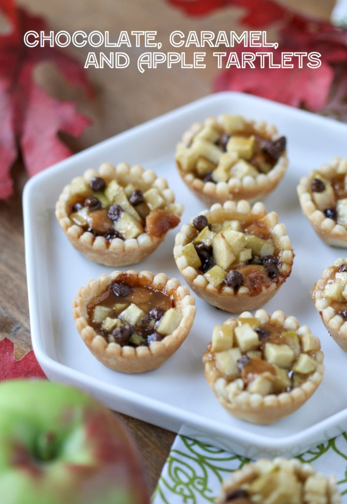 Chocolate Caramel and Apple Tartlets | Inspired by Charm