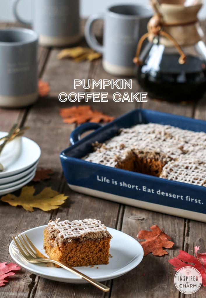 Pumpkin Coffee Cake | Inspired by Charm