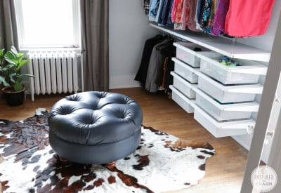 Walk-in Closet Ottoman | Inspired by Charm