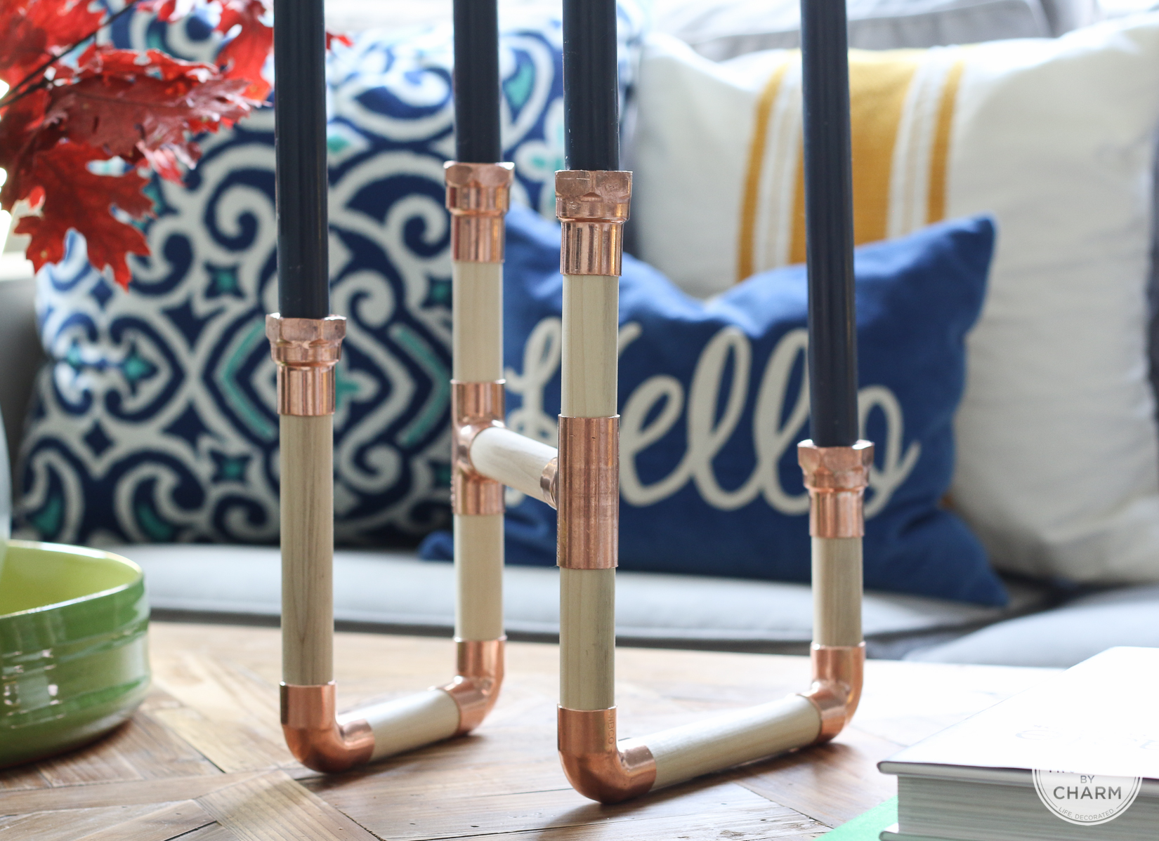 DIY Copper and Wood Candlesticks | Inspired by Charm