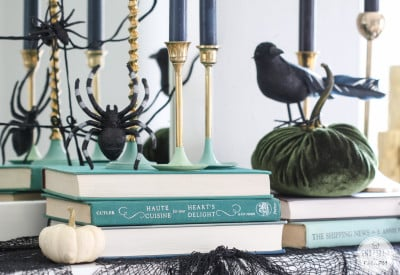 Stylish Halloween Mantel | Inspired by Charm