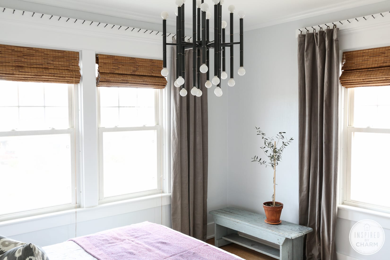 Curtains, Blinds, and that Rug   Inspired by Charm