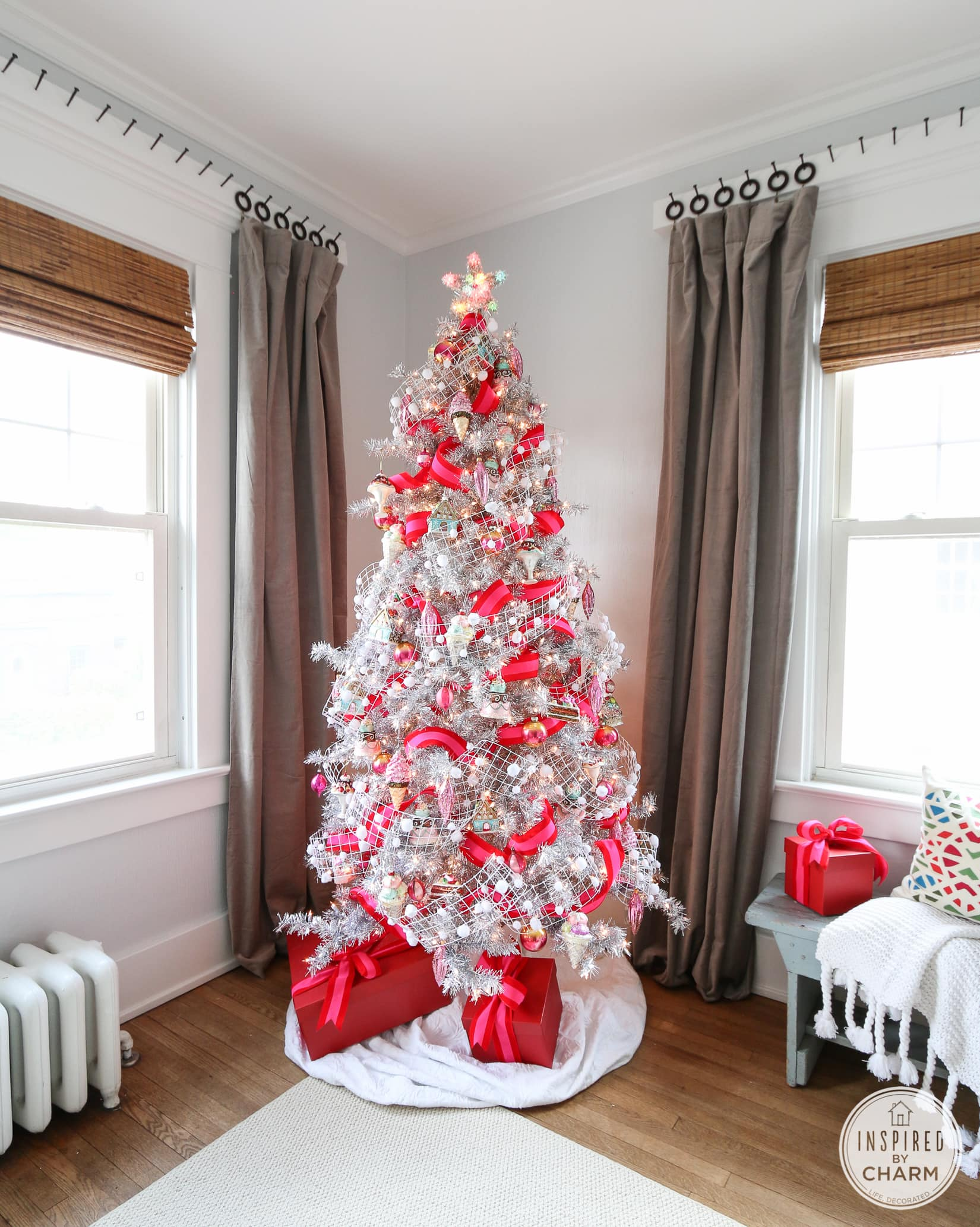 Pink And Silver Tree