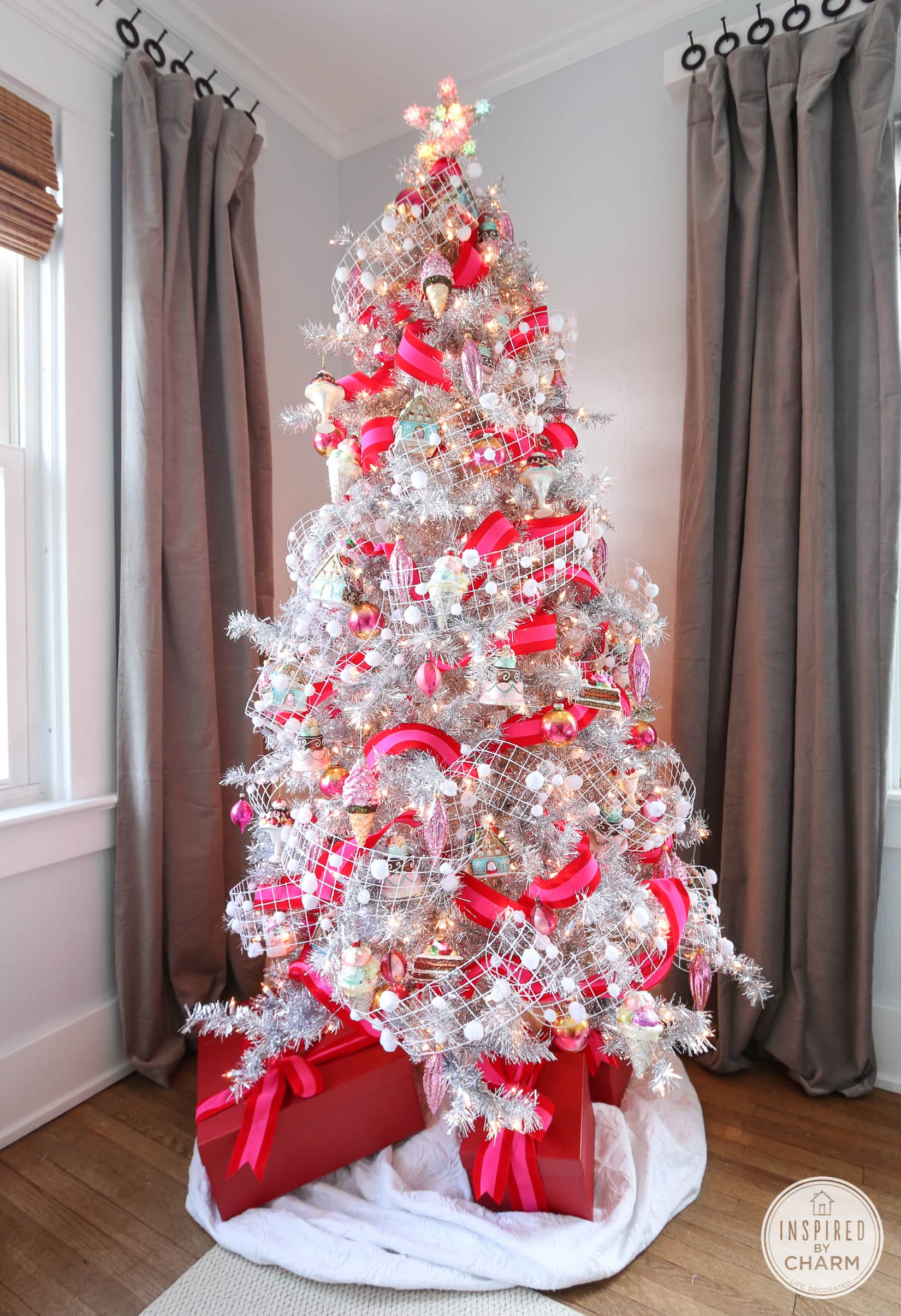 Silve And Pink Tree