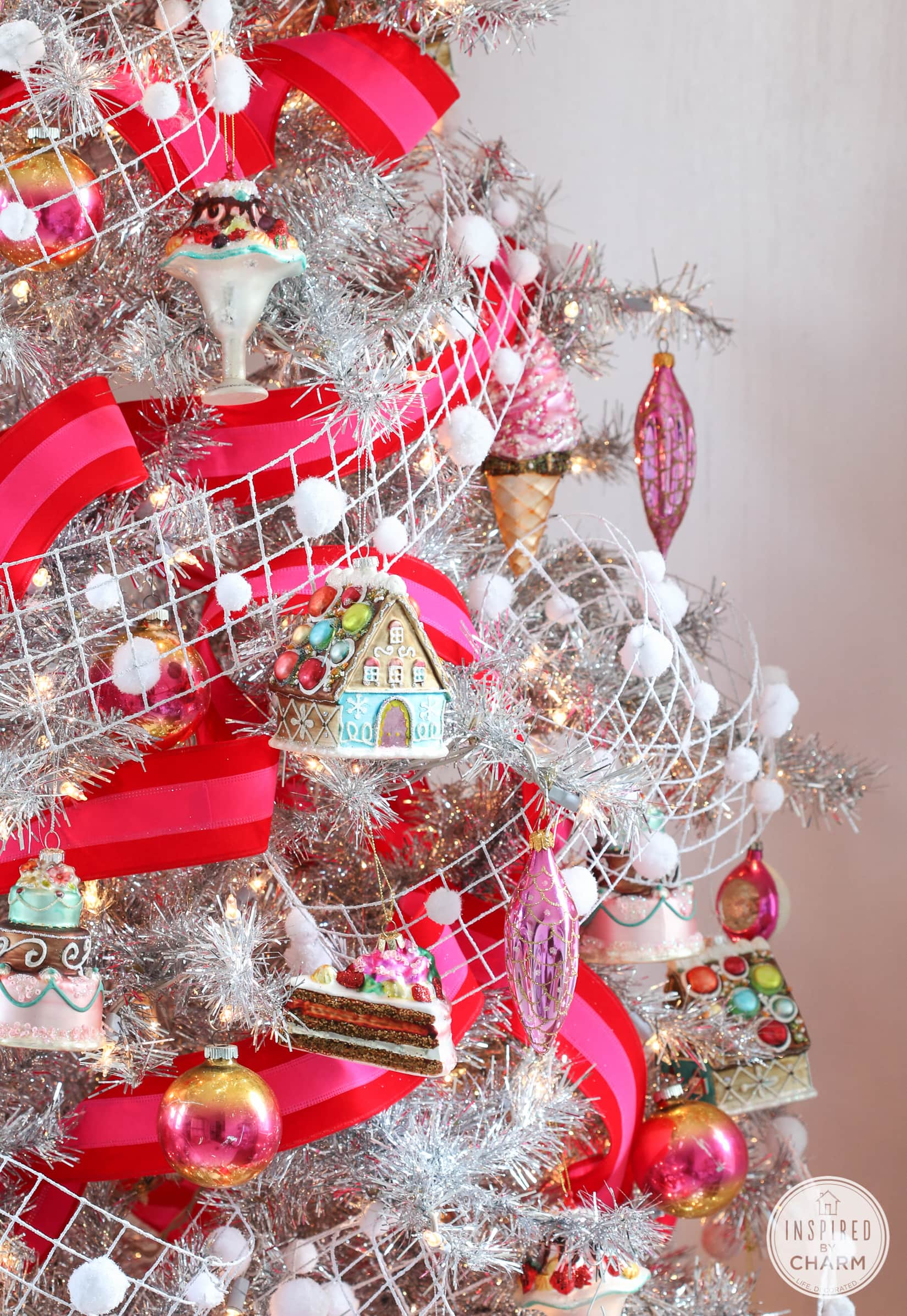 Pretty Pink Christmas Tree - Inspired by Charm