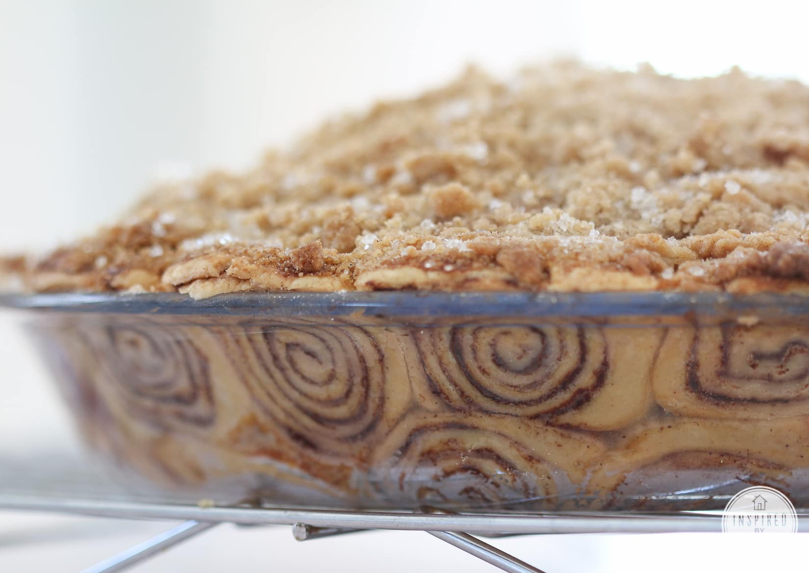 Year of Pie: Cinnamon Roll Apple Pie - Inspired by Charm