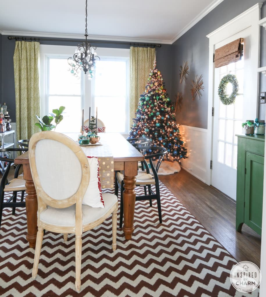 Christmas Home Tour paint colors
