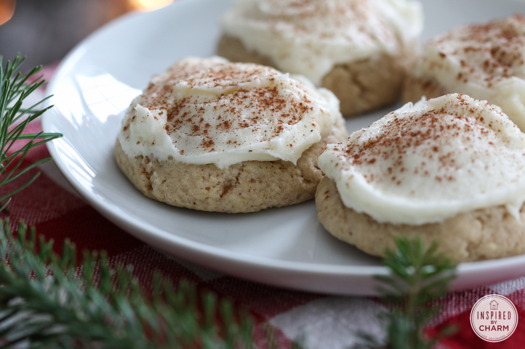 Frosted Eggnog Cookies | Inspired by Charm