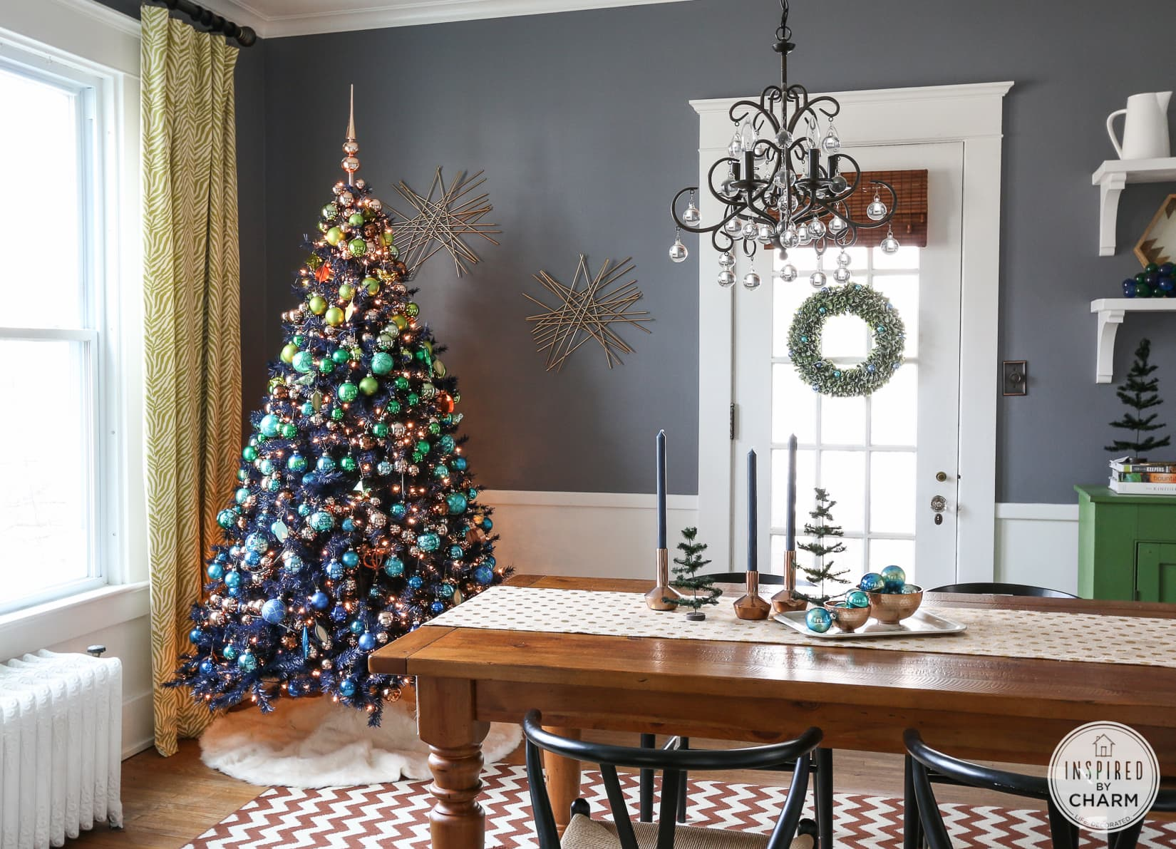 interior decoration wood table ideas with artificial.htm navy blue christmas tree blue and green christmas tree decorations  navy blue christmas tree blue and