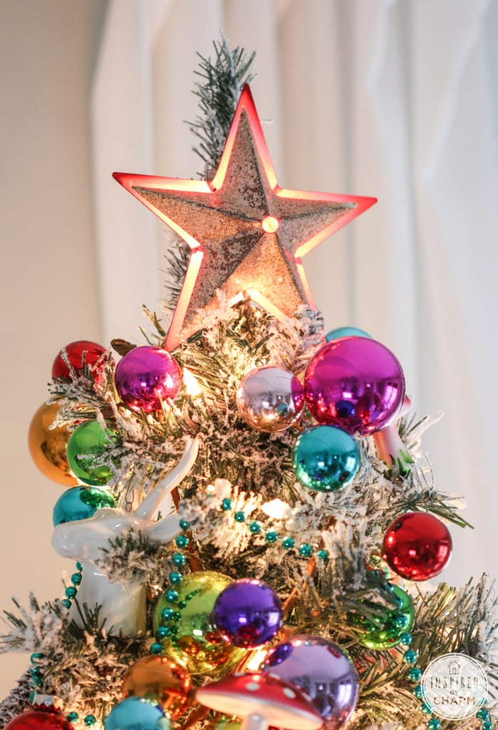 Flocked Christmas Tree 2014 | Inspired by Charm