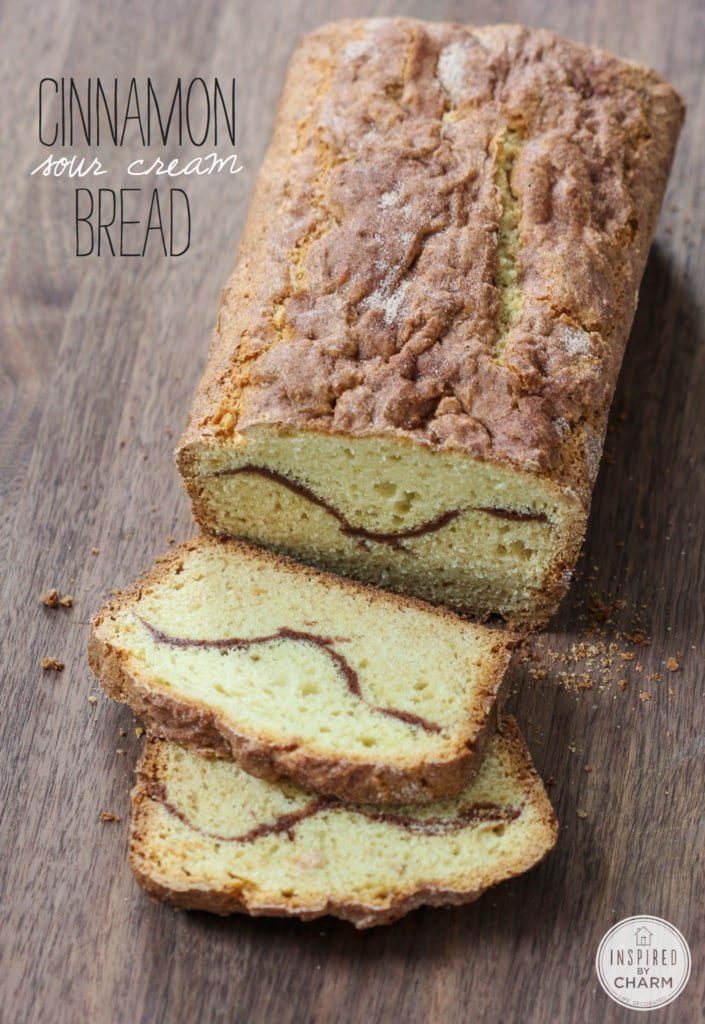 Cinnamon Sour Cream Bread | Inspired by Charm
