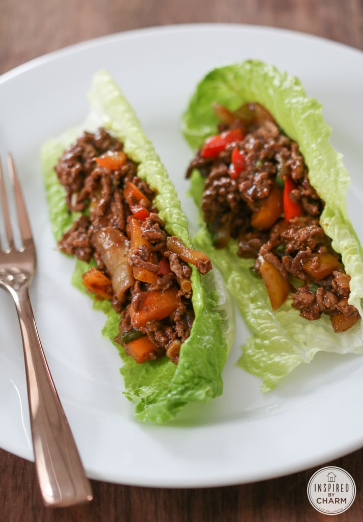 healthy beef wrap