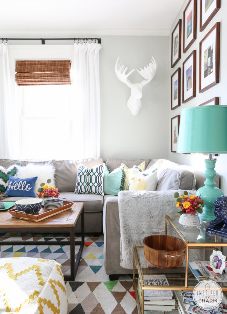 Fresh and Party-Ready Living Room | Inspired by Charm