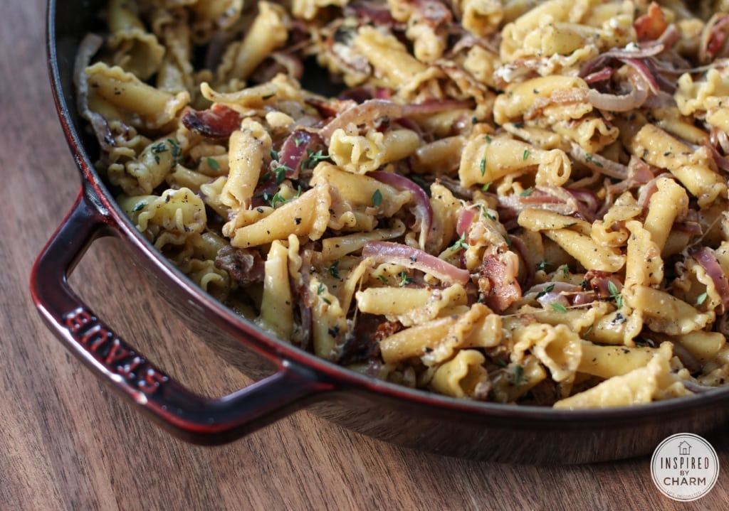 Bacon and Goat Cheese Pasta