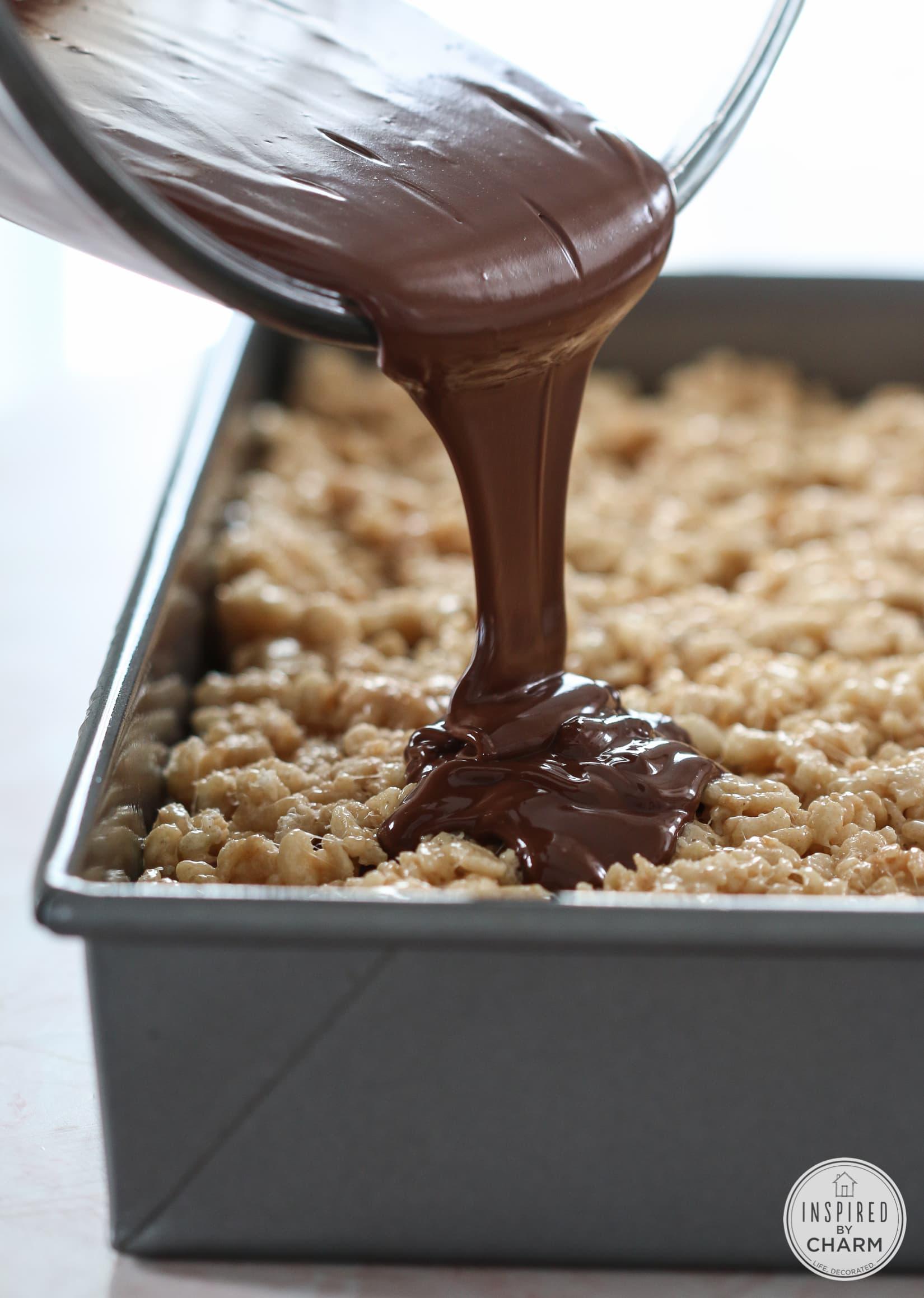 ... Peanut Butter Cup Rice Krispie Treats that I made last week. In