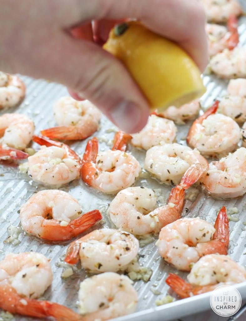 Roasted Parmesan Garlic Shrimp | Inspired by Charm