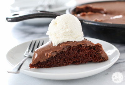 Chocolate Skillet Cake | Inspired by Charm