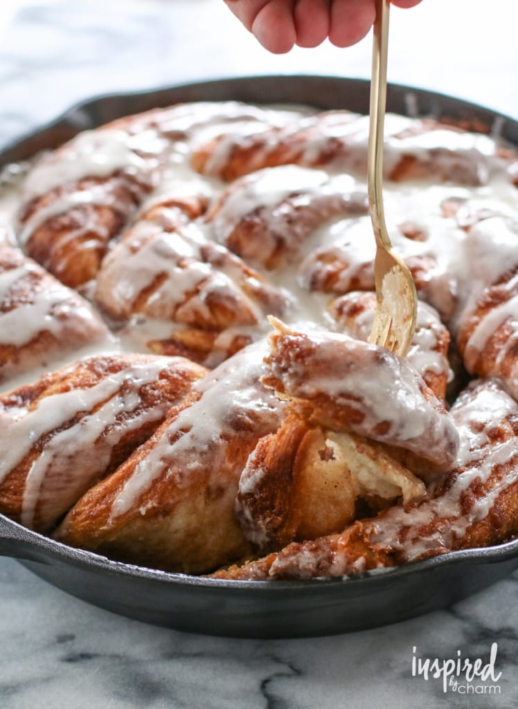 Cinnamon Roll Skillet Bread | Inspired by Charm