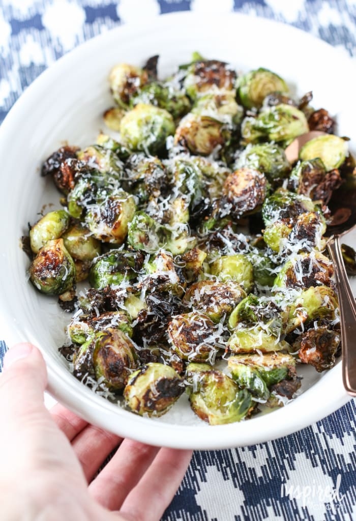 Roasted Balsamic Brussels Sprouts | Inspired by Charm