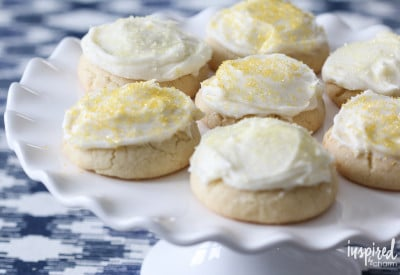 Frosted Lemon Cookies | Inspired by Charm
