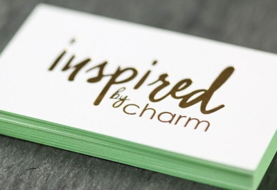 Business Cards on Fleek | Inspired by Charm