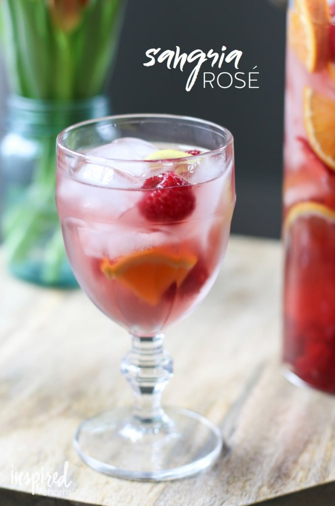 The perfect Rosé Sangria cocktail recipe for summer entertaining! #rose #sangria