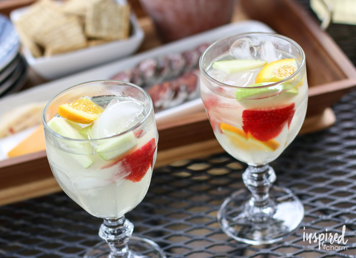 Sangria and Snacks | Inspired by Charm