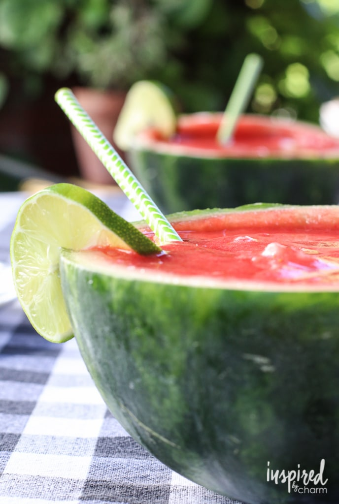 Strawberry Watermelon Margaritas | Inspired by Charm