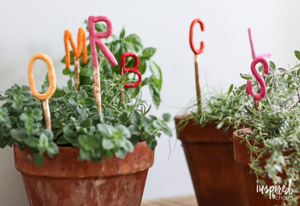 DIY Clay Herb Markers | Inspired by Charm