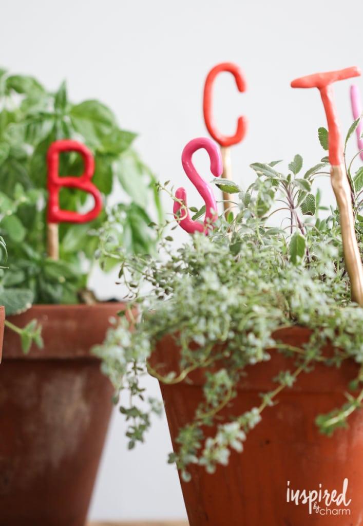 clay garden marker