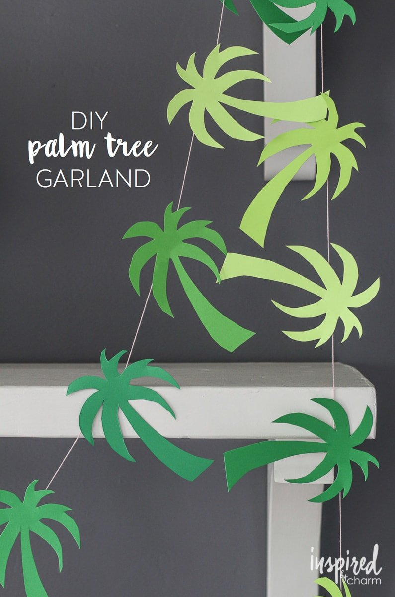 Palm tree garland by Inspired by charm