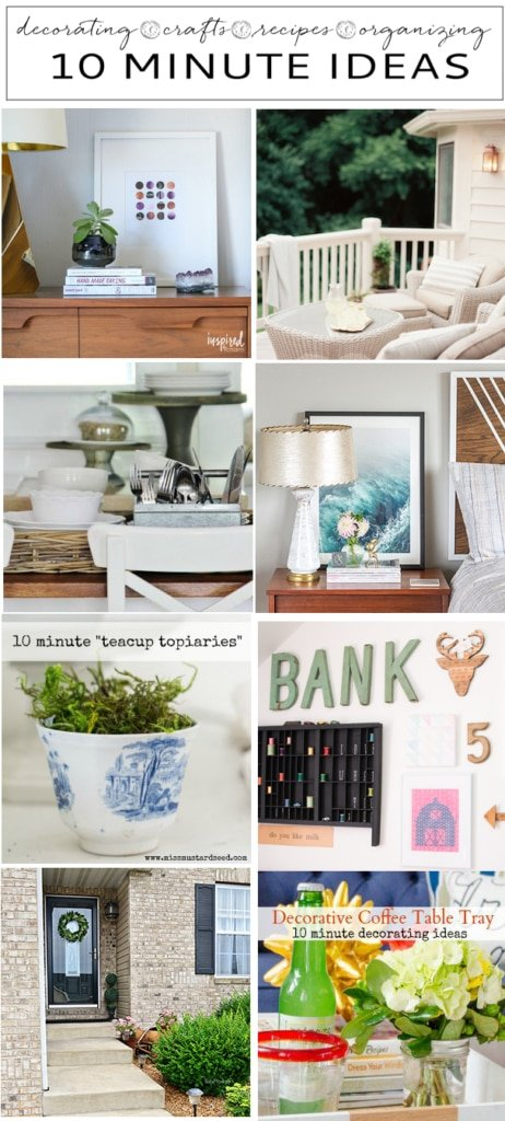 Ten Minute Decorating Ideas | Inspired by Charm
