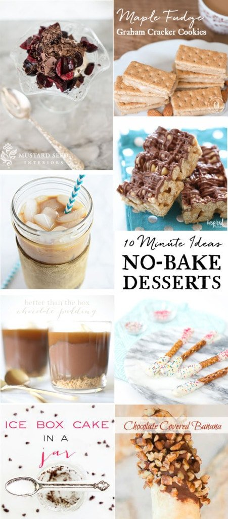 10 Minute No-Bake Dessert Recipes | Inspired by Charm