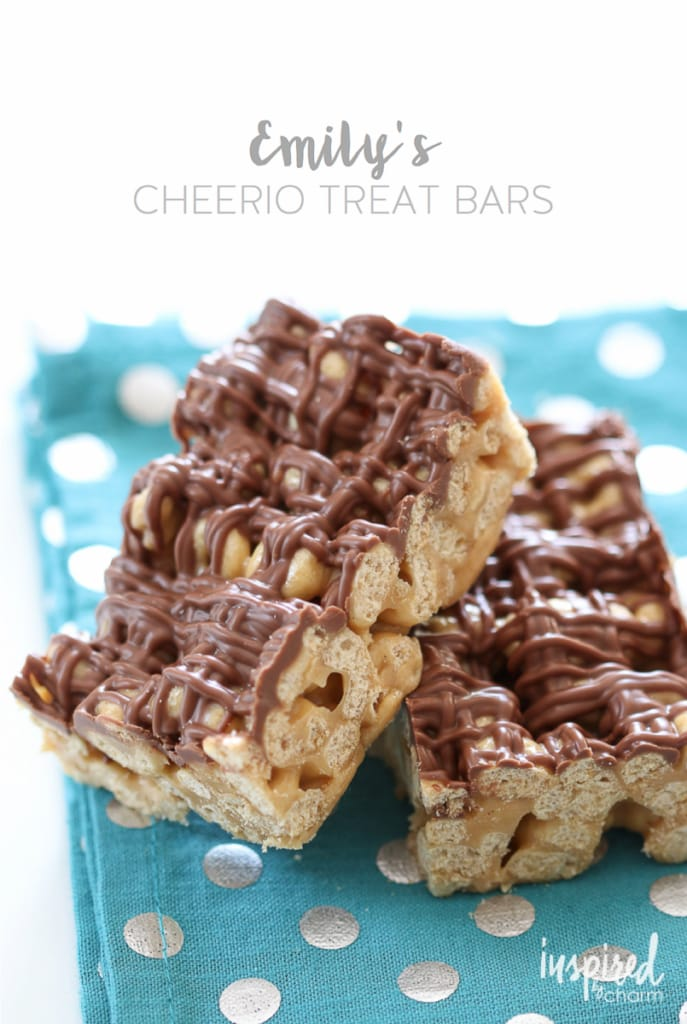 Emily's Cheerio Treat Bars | Inspired by Charm