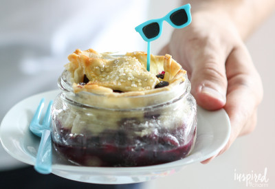 Blueberry Mason Jar Pies | Inspired by Charm