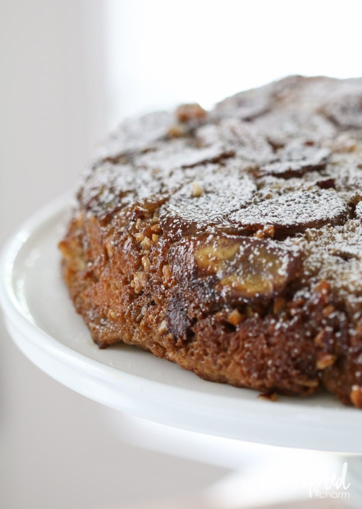 Banana Skillet Cake with Chocolate and Hazelnuts | Inspired by Charm